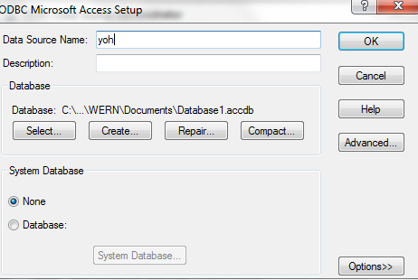 How to connect ms access and vb net using odbc | Data Integrated Entity