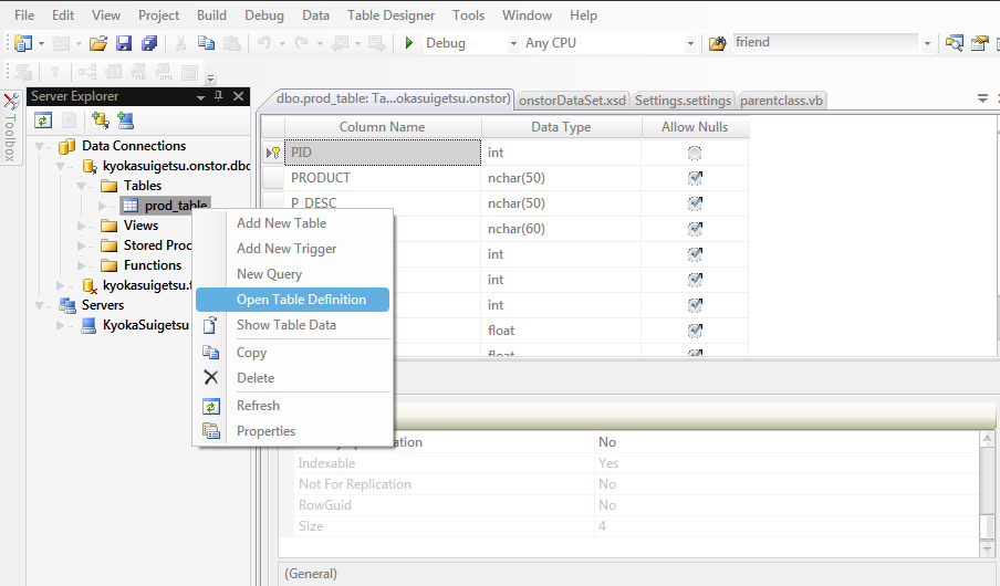 Select the primary key of the table that you have chose. In my case it is the \u0027PID\u0027 field.  sc 1 st  Data Integrated Entity - WordPress.com & Auto\u2013increment primary key in Microsoft SQL Server using vb.net ...